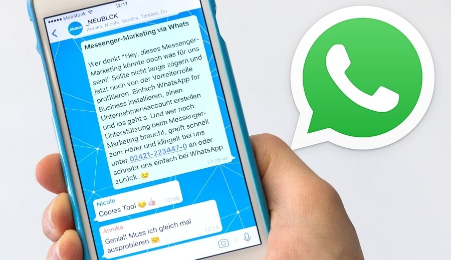 Messenger-Marketing via WhatsApp